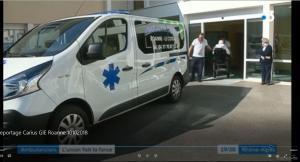 Carius dans France 3 Lyon : Ambulancier – L'union fait la force