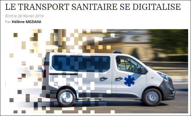 Digitalisation du transport sanitaire : l'application Carius citée dans Les Echos Etudes
