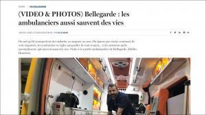 [Article de presse] Le rôle méconnu des ambulanciers par Bellegarde Ambulances